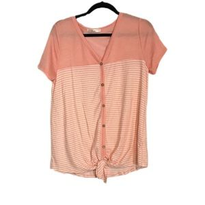 Pink and white striped shirt